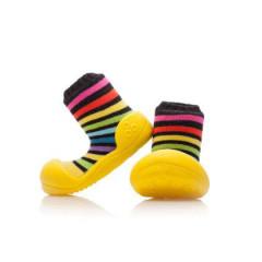Botičky Attipas Ballet Rainbow Yellow