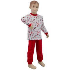 Bavlněné pyžamo berušky a včeličky červené Esito