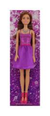 Barbie v třpytivých šatech FIALOVÝCH BRUNETKA