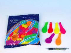 Balonek nafukovací 7 párty neon 100ks