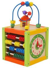 Dřevěná edukační kostka Baby Mix