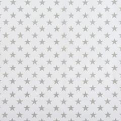 Dětské povlečení 2 dílné ŠEDÁ HVĚZDA BÍLÉ 135 x 100 cm