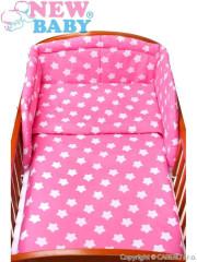 3-dílné ložní povlečení New Baby 90/120 cm hvězdičky růžové