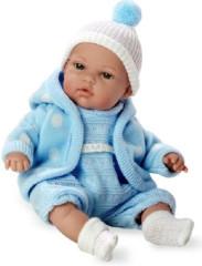 Panenka/miminko modré plačící 33cm vonící měkké tělo na baterie