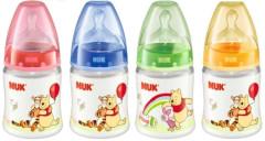 First Choice kojenecká plastová láhev Medvídek Pú 150 ml