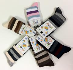Kojenecké bavlněné ponožky proužkované vel. 3 (23-25)