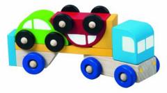 Truck s autíčky dřevo