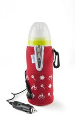 NUVITA Cestovní ohřívač láhve se zipem - červený