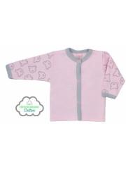 Kojenecký BIO kabátek Koala Malí Medvídci růžový vel. 68