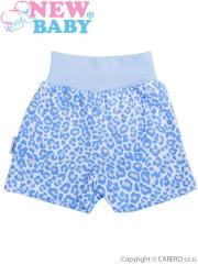 Kojenecké kraťásky New Baby Leopardík modré vel. 80