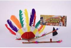 Indiánská sada - sekyrka, čelenka,dýmka