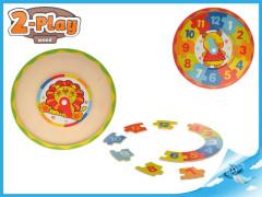 Hodiny dřevěné puzzle 2-Play