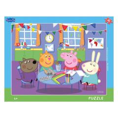 Puzzle 40 dílků Peppa pig: Ve školce deskové