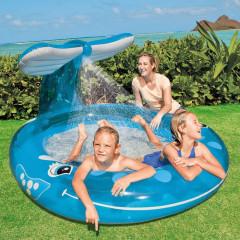 Bazén INTEX 57435 velryba se sprchou 208x157x99 cm
