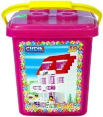 Stavebnice Cheva 18 Cukrárna plast 215ks v kbelíku