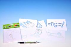 Šablony na malování voskovky magické - ZVÍŘÁTKA