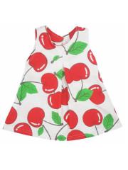 Dětské letní šatičky bez rukávů Koala Cherry bílo-červené vel. 80
