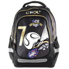 Školní batoh Goal - Černý - zlaté zipy II.