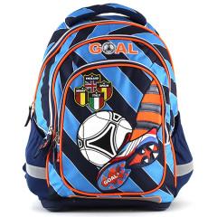 Školní batoh Goal - Modré proužky I.