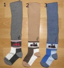 Dětské punčocháče Design Socks vel. 1 (12 - 24 měs) MAŠINKA ŠEDÉ TYP 1