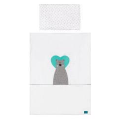 3-dílné ložní povlečení Belisima Bear in love 100 x 135 tyrkysové