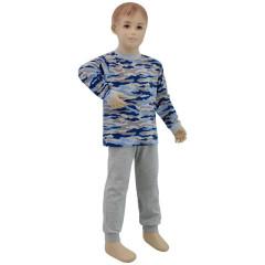 Bavlněné pyžamo modrý maskáč Esito Vel. 86 - 122