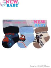Kojenecké froté ponožky New Baby barevné - 3ks vel. 56 (5-6)