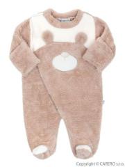 Zimní kojenecká kombinéza Baby Service Veselý medvídek béžová