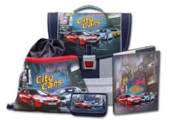 Školní aktovkový set City Cars 4-dílný Emipo