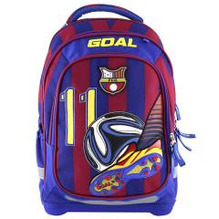Školní batoh Goal - 3D nášivka kopačky a fotbalového míče - modro-červený - číslo 11