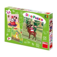 Puzzle České pohádky 3x55 dílků v krabičce