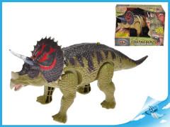 Triceratops 25cm chodící na baterie se světlem a zvukem