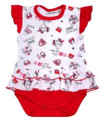 Body krátký rukáv se sukýnkou Miss Star červené Baby Service
