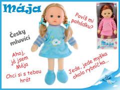 Panenka Mája mrkací 42cm na baterie česky mluvící