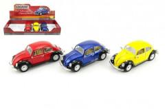 Auto Kinsmart Volkswagen Classical Beetle kov 17cm volný chod