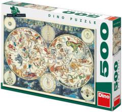 Puzzle Astrologická mapa 47x33cm 500 dílků