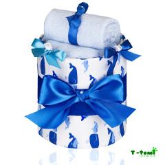 Plenkový dort malý T-tomi, modrá velryba