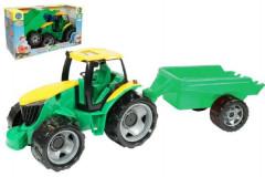 Traktor plast bez lžíce a bagru s vozíkem 71x35x29cm