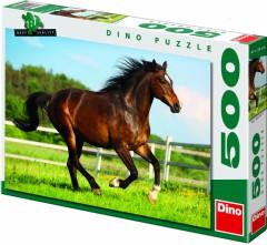Puzzle Kůň ve výběhu 47x33cm 500 dílků