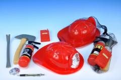 Přilba hasičská s doplňky