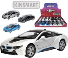 Auto Kinsmart BMW i8 kov 12cm 1:36
