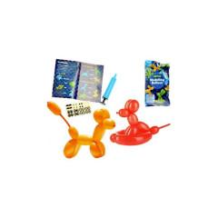 Balónky na tvoření zvířátek 12ks s pumpou a samolepkami v sáčku