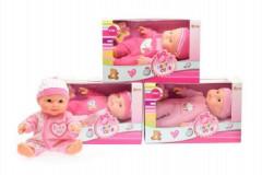 Miminko/panenka plast 22cm pevné tělo
