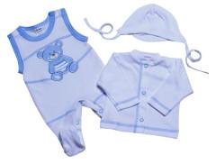 Souprava do porodnice 3 dílná MKcool Modrá