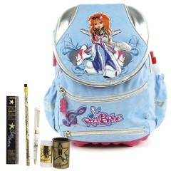 Školní batoh Cool set - 6dílná sada - batoh COOL RockBabe + školní pomůcky Hollywood I.