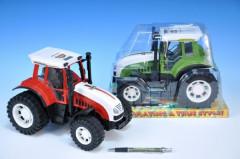 Traktor plast 25cm - červený