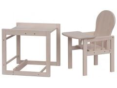 Dřevěná židlička - Scarlett kombi - masiv borovice - bílá (bělená)