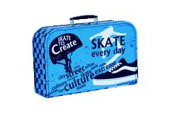 Dětský kufřík 35 cm Skate modro-černý