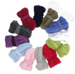 Zimní fleecové rukavičky pro novorozence se šňůrkou vel. 0