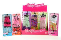 Šatičky pro panenku nejen Barbie BÍLO-ZELENÉ